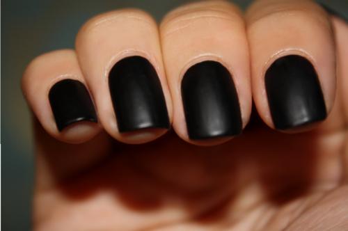 Chanel mat top coat nail polish swatch