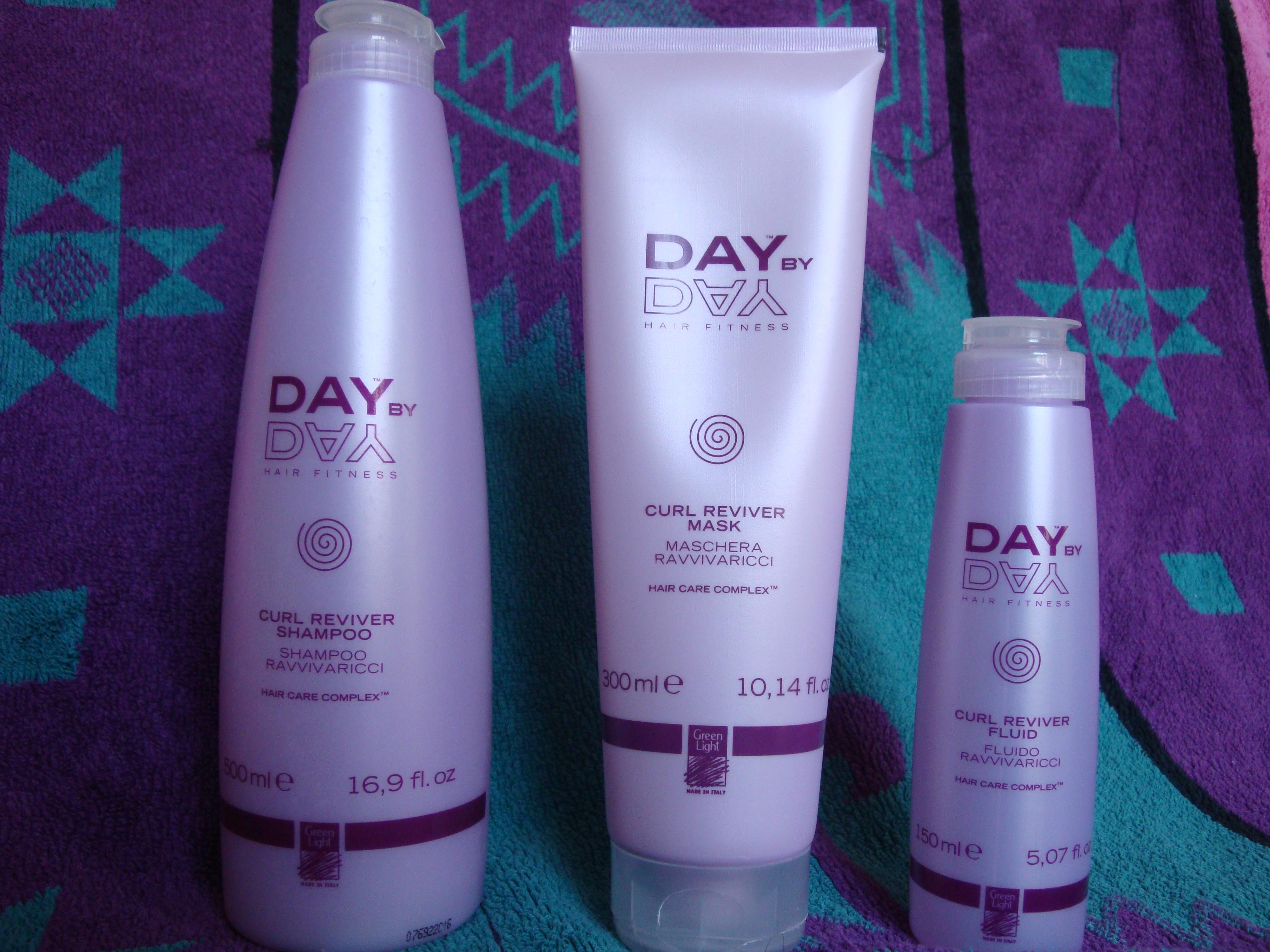 Green light day by day shampoo, crema e fluido ravviva ricci