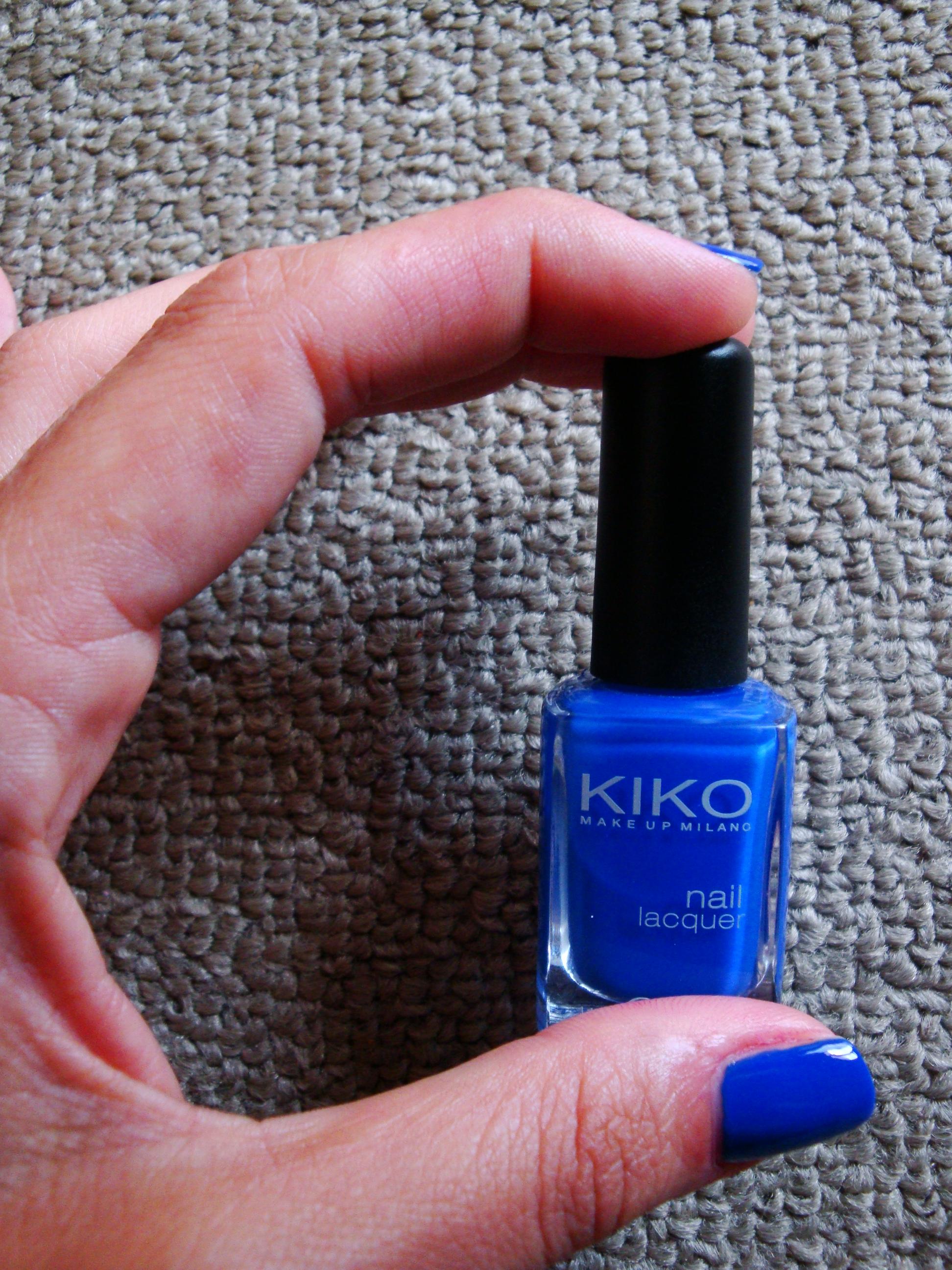 YSL nail polish #18 Bleu Majorelle dupe