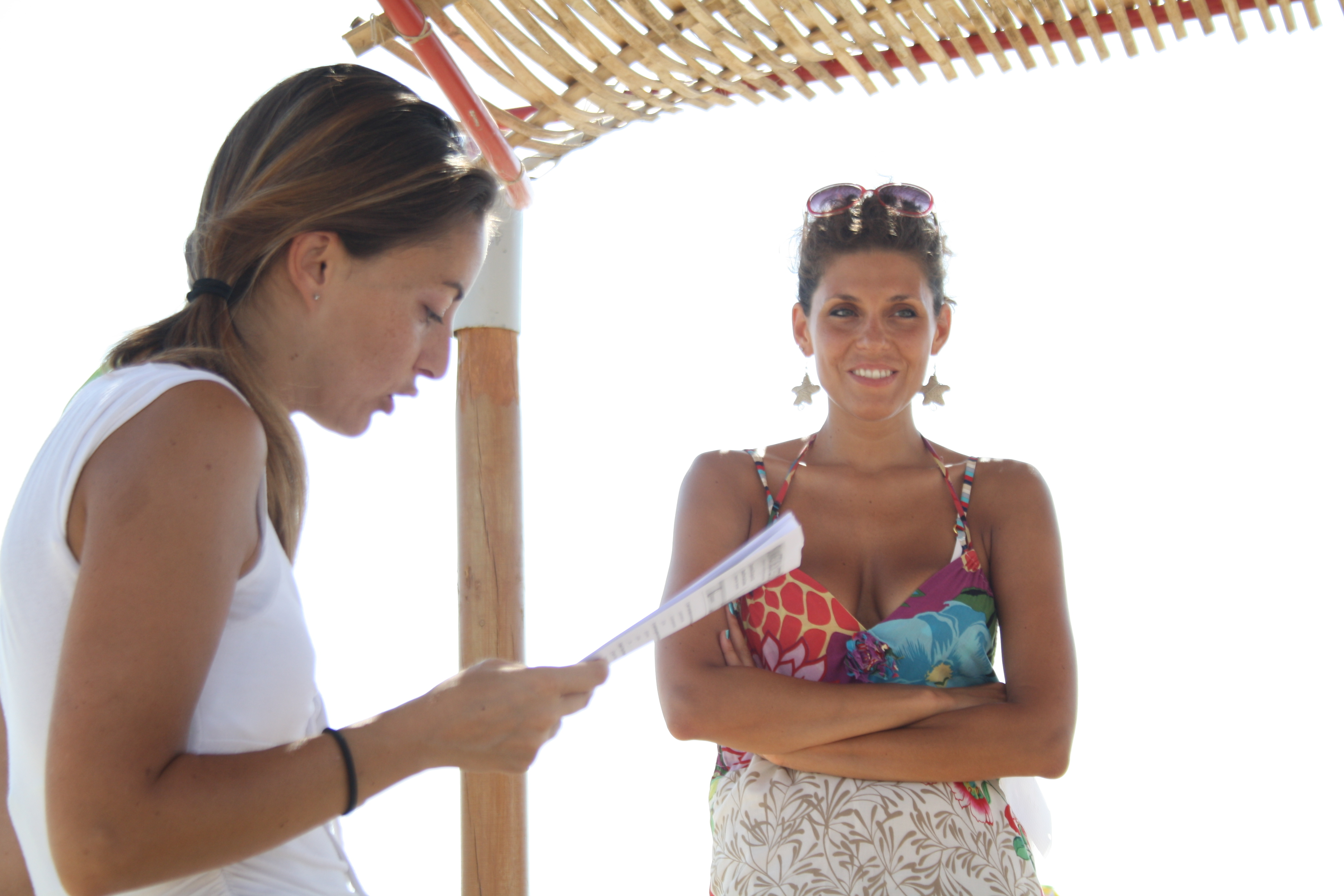 Un momento della correzione dei quiz insieme ad Eleonora.