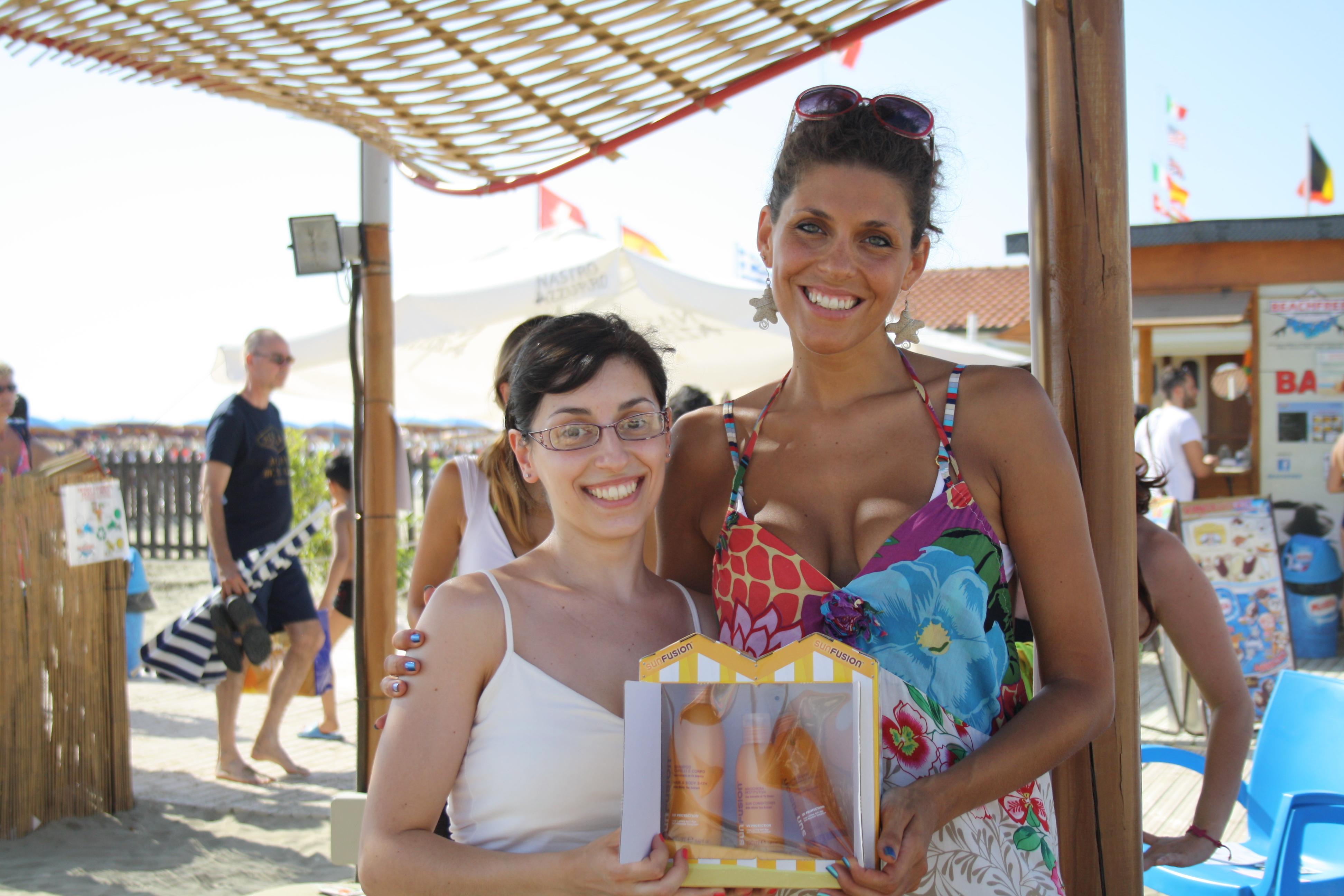 Con Francesca, arrivata seconda e molto soddisfatta del suo premio: lo credo bene!