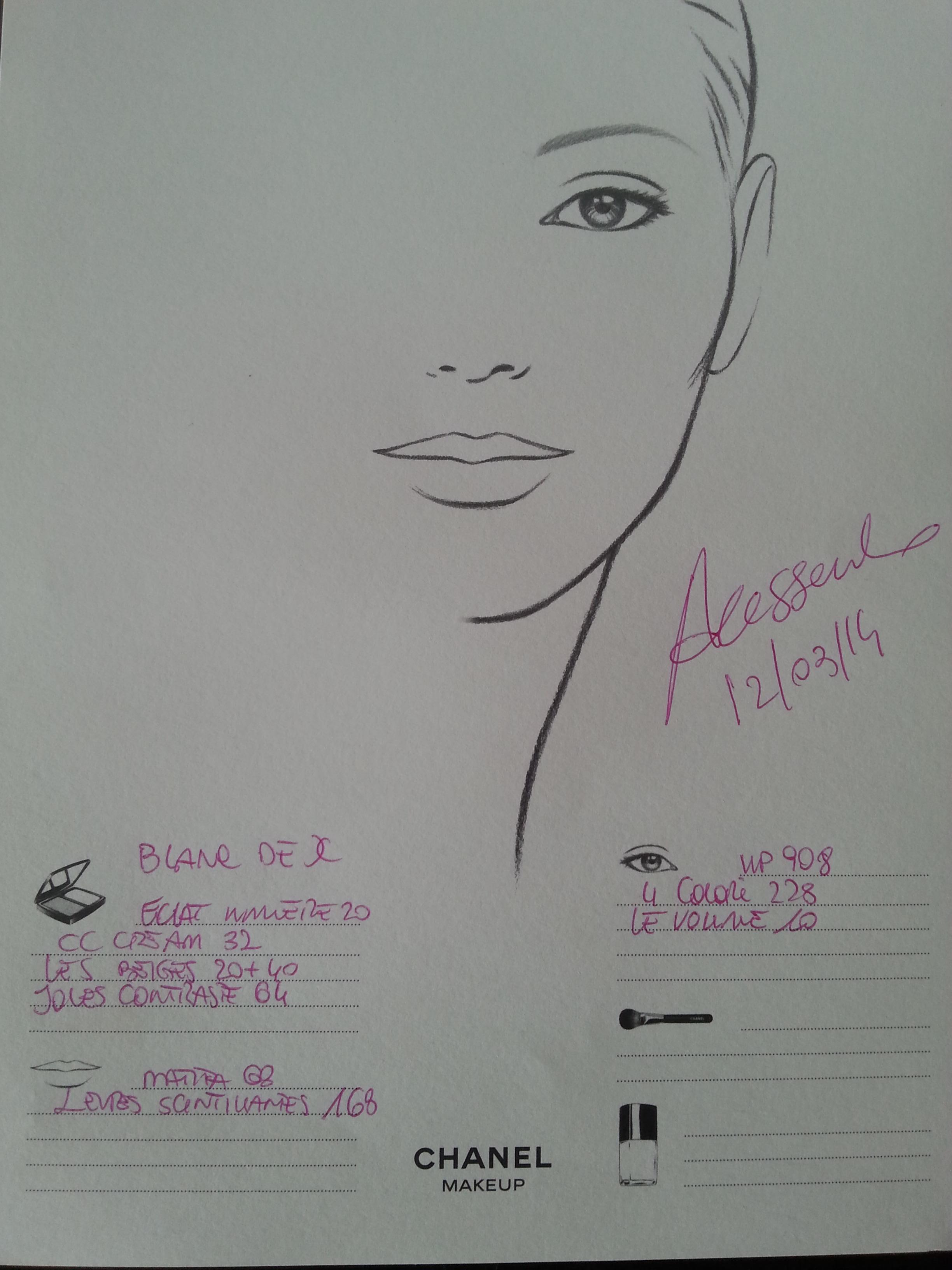 Scheda prodotti make up Chanel
