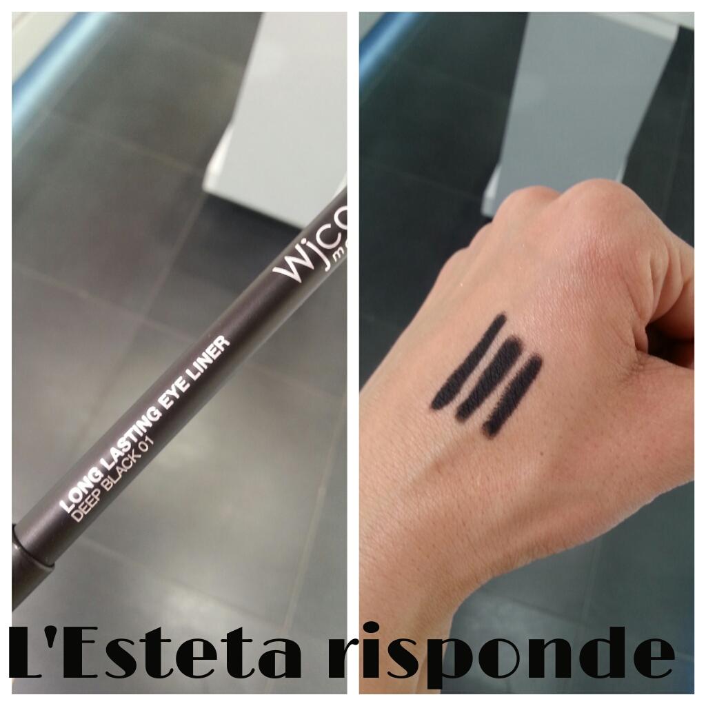 Wjcon matita long lasting eye liner #01 deep black - swatch
