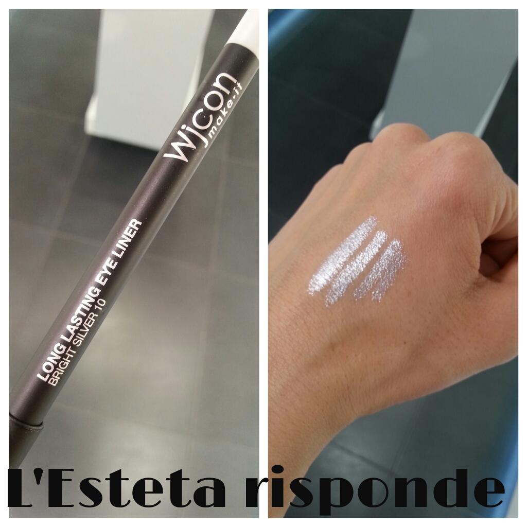 Wjcon matita long lasting eye liner #10 brigth silver - swatch