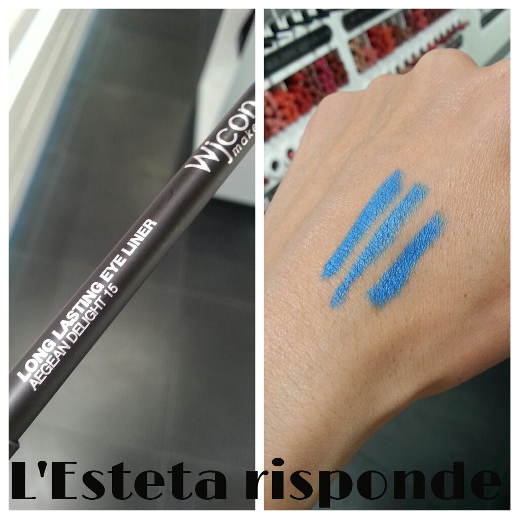 Wjcon matita long lasting eye liner #15 aegean delight - swatch