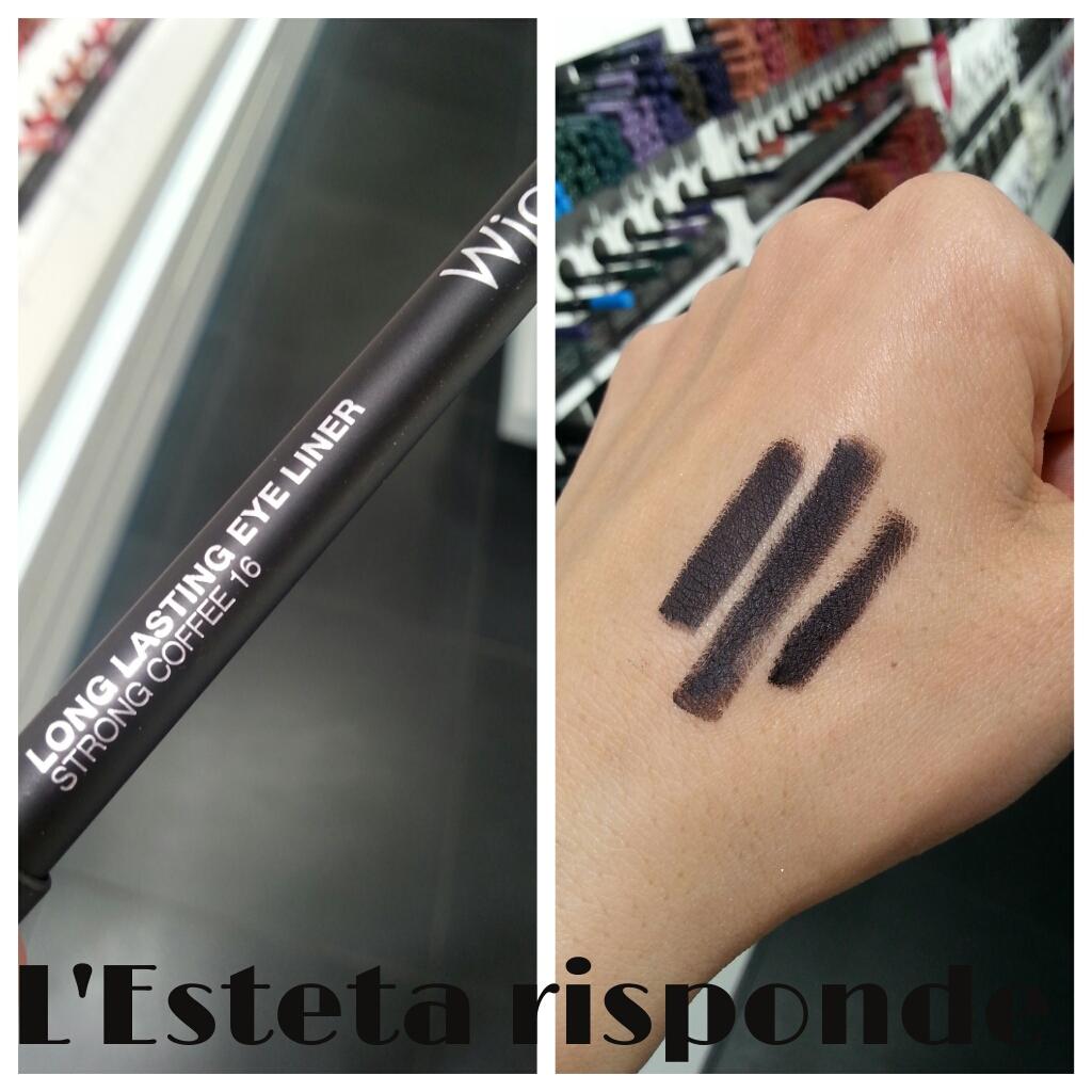 Wjcon matita long lasting eye liner #16 strong coffee - swatch
