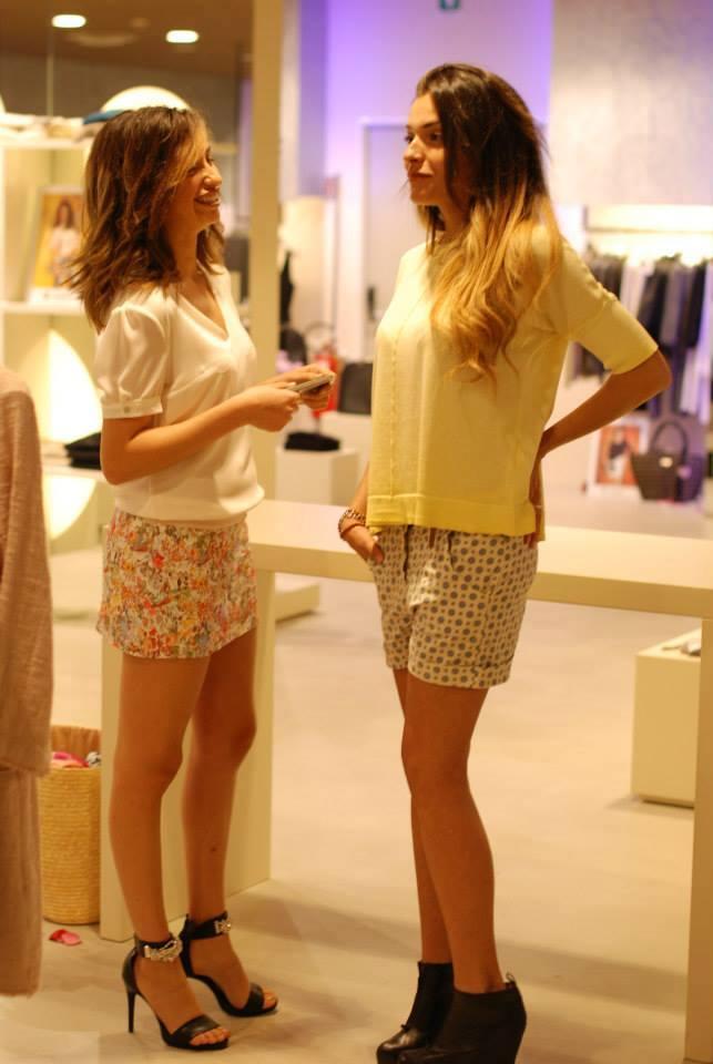 Giulia e Thais, le due modelle ufficiali dell'evento Coll