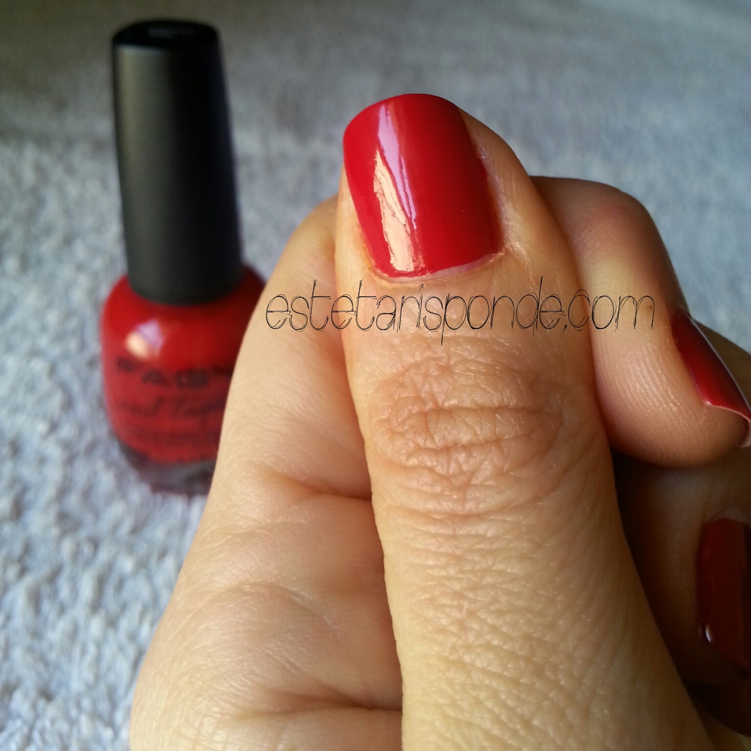 Faby's red swatch