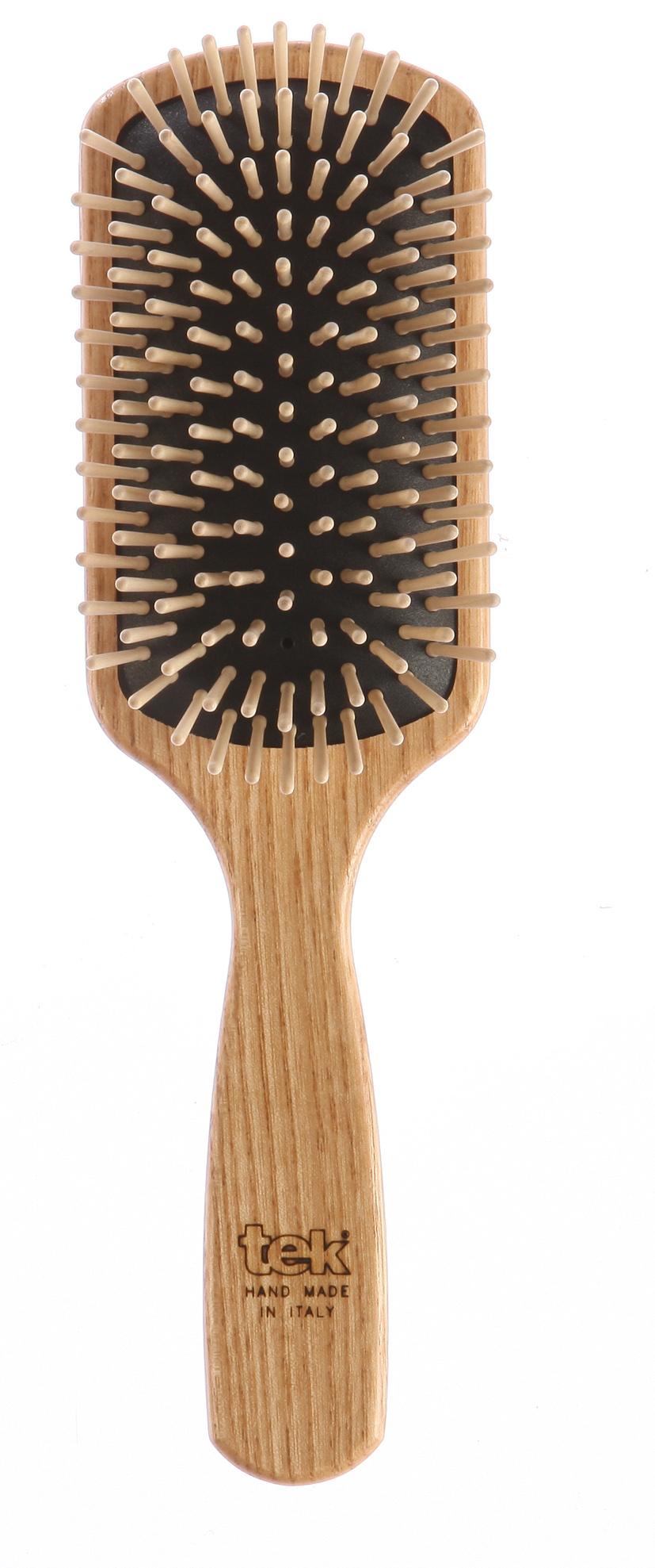 Spazzola rettangolare. Ideale per capelli lunghi. Prezzo: 25,90 €.
