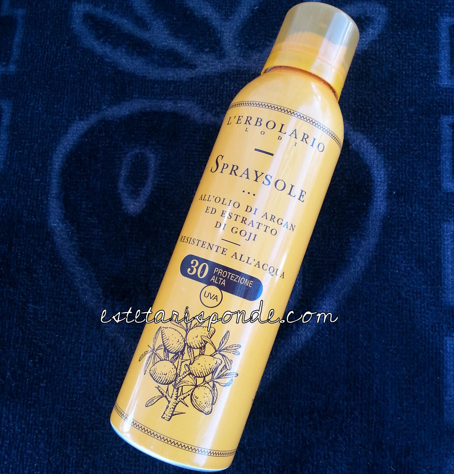 L'Erbolario spraysole all'olio di argan ed estratto di goji