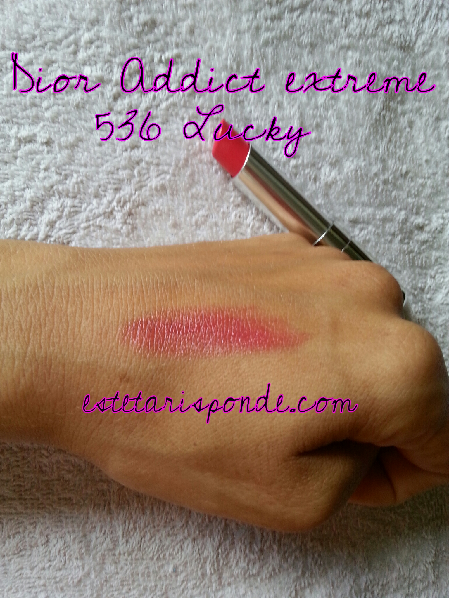 Dior addict extreme #536 lucky - swatch
