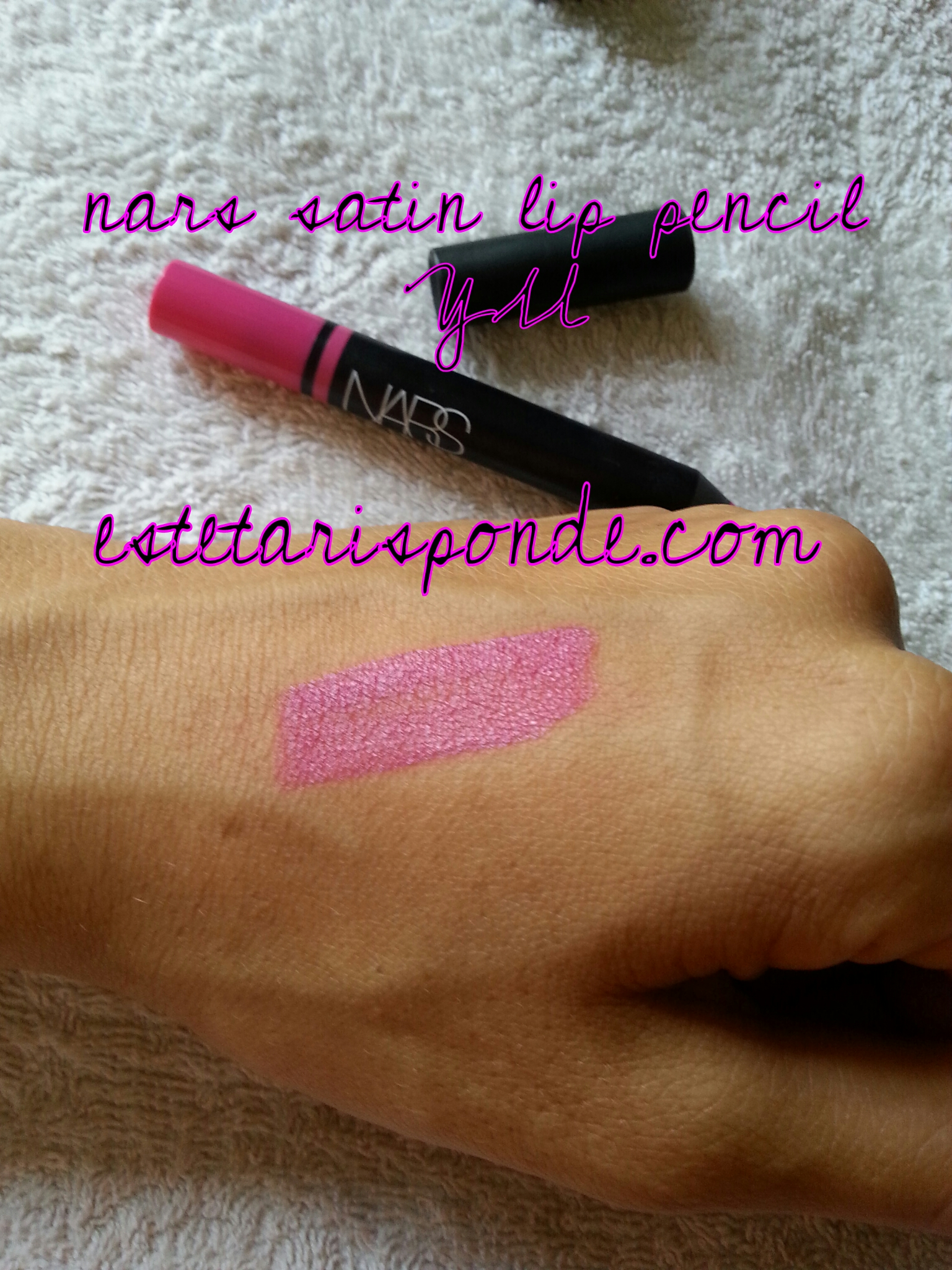 NARS satin lip pencil YU - swatch
