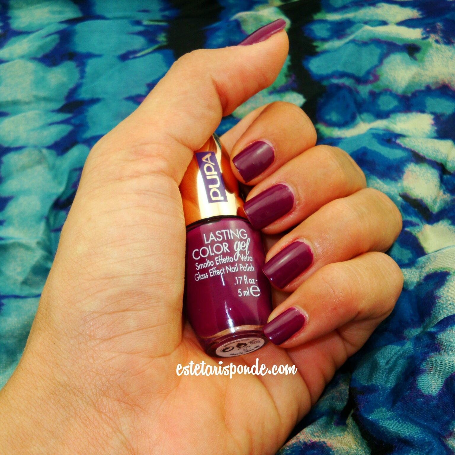 PUPA Paris Experience lasting color GEL Velvety Fuchsia 092 - swatches