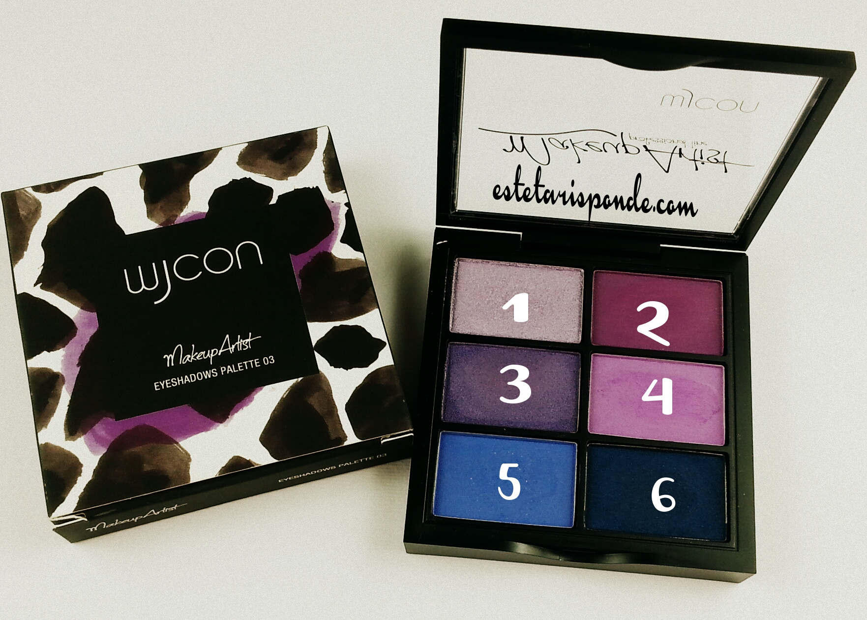 Wjcon Makeup Artist collection - MakeUp Artist Eyeshadows Palette - swatches