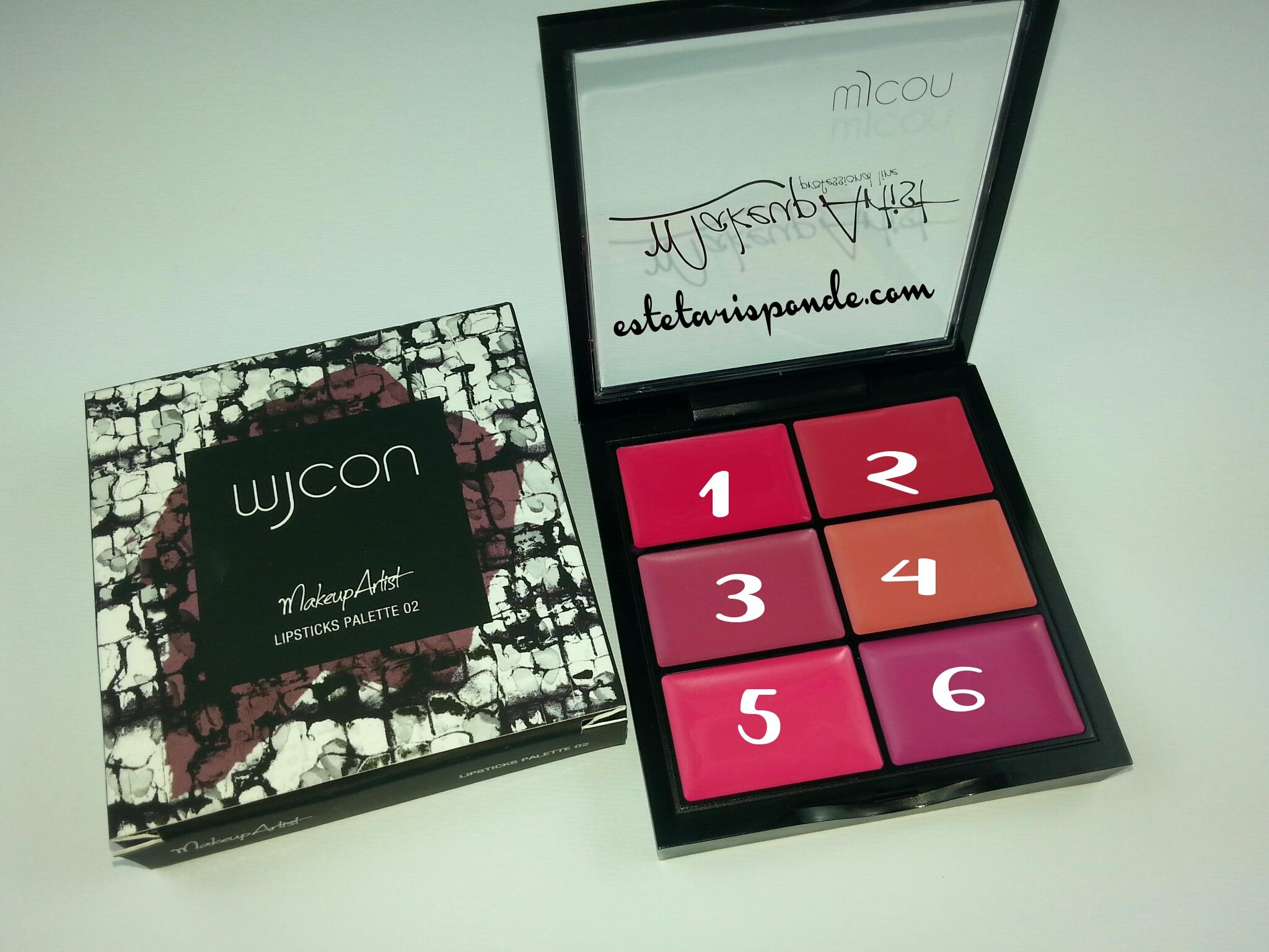 Wjcon Makeup artist collection MakeUp Artist Lipsticks Palette - swatches