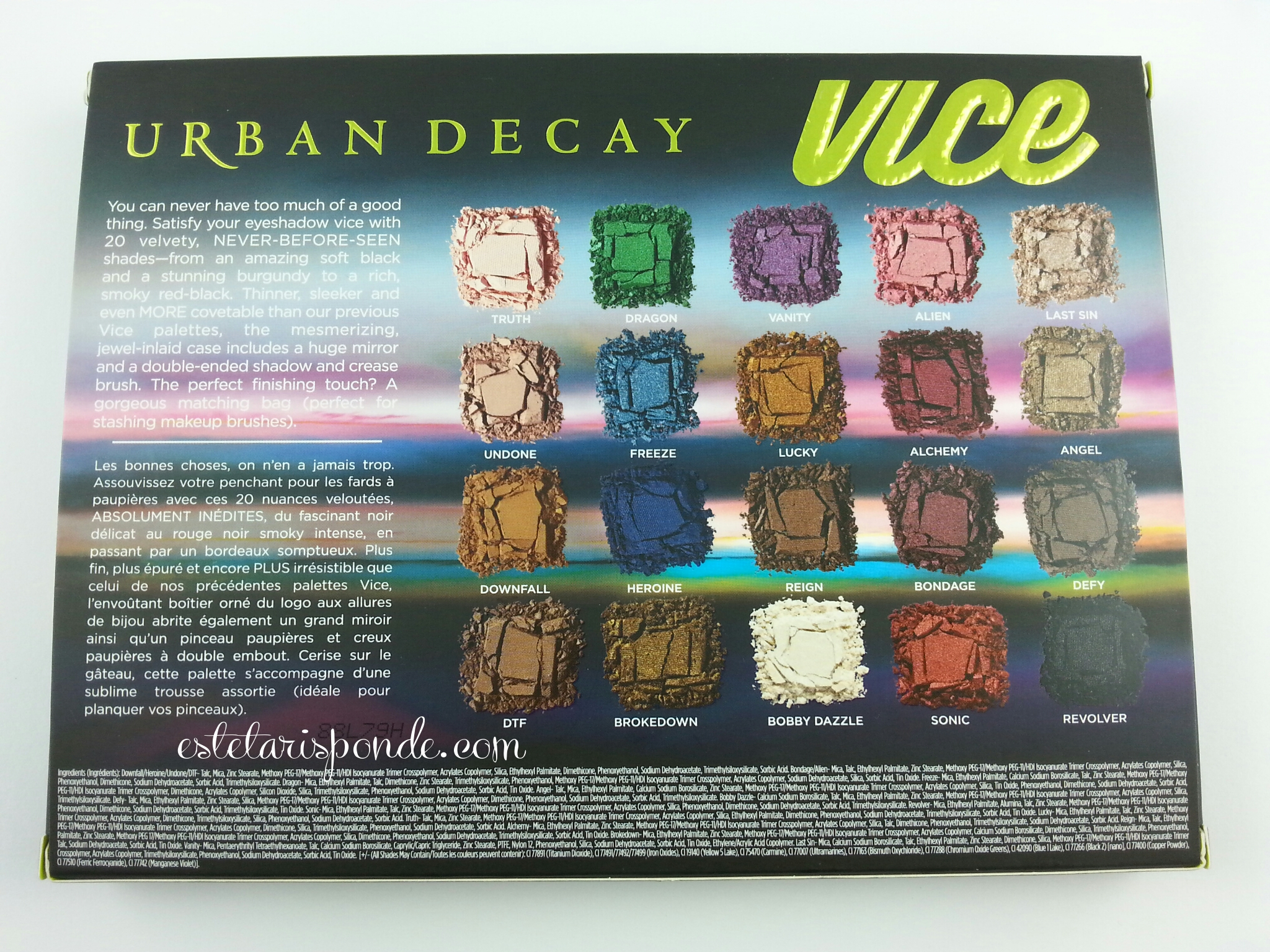 Vice 3 palette urban decay